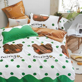 Sleep Buddy Set Sprei dan Bed Cover Exciting Cotton Sateen 120x200x30