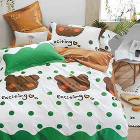 Sleep Buddy Set Sprei dan Bed Cover Exciting Cotton Sateen 180x200x30