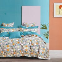 Sleep Buddy Sleep Buddy Set Sprei dan Bed Cover Plenty Flower Cotton Sateen 160x200x30
