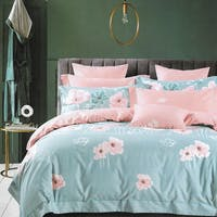 Sleep Buddy Sleep Buddy Set Sprei dan Bed Cover Pink Share Cotton Sateen 160x200x30