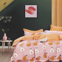 Sleep Buddy Sleep Buddy Set Sprei dan Bed Cover Fruit Friends Cotton Sateen 160x200x30