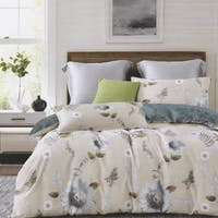Sleep Buddy Set Sprei dan Bed Cover Brows Flower Cotton Sateen 180x200x30