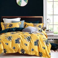 Sleep Buddy Sleep Buddy Set Sprei dan Bed Cover Pick Yellow Cotton Sateen 160x200x30