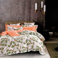 Sleep Buddy Set Sprei dan Bed Cover Choco Leaf Cotton Sateen 160x200x30