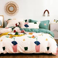 Sleep Buddy Set Sprei dan Bed Cover Bigger Drawing Cotton Sateen 180x200x30