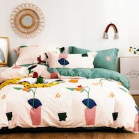 Sleep Buddy Set Sprei dan Bed Cover Bigger Drawing Cotton Sateen 200x200x30