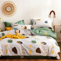 Sleep Buddy Sleep Buddy Set Sprei dan Bed Cover Scandi Shape Cotton Sateen 160x200x30