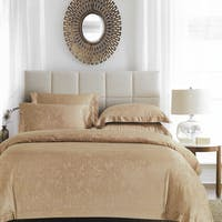 Sleep Buddy Sleep Buddy Set Sprei dan Bed Cover Moss Light Brown Jacquard Tencel 160x200x40