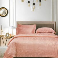 Sleep Buddy Sleep Buddy Set Sprei dan Bed Cover Garlos Pink Jacquard Tencel 160x200x40