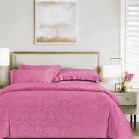 Sleep Buddy Sleep Buddy Set Sprei Fay Pink Jacquard Tencel 160x200x40