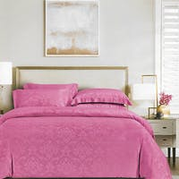 Sleep Buddy Sleep Buddy Set Sprei dan Bed Cover Fay Pink Jacquard Tencel 160x200x40