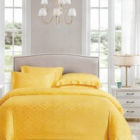 Sleep Buddy Sleep Buddy Set Sprei dan Bed Cover Grace Yellow Jacquard Tencel 160x200x40