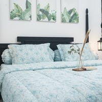 Sleep Buddy Set Sprei dan Bed Cover Litle Damask Mint Tencel 180x200x30