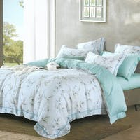 Sleep Buddy Set Sprei dan Bed Cover Leaf Greeny Tencel 180x200x30