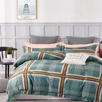 Sleep Buddy Set Sprei dan Bed Cover Square Outline Cotton Sateen 180x200x30