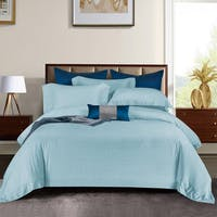 Sleep Buddy Set Sprei dan Bed Cover Light Blue Stone Jacquard Tencel 120x200x40
