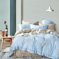 Sleep Buddy Set Sprei dan Bed Cover Inspired Blue Tencel 120x200x30