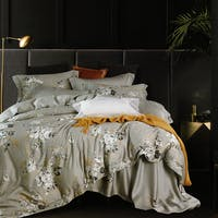 Sleep Buddy Set Sprei dan Bed Cover Bunch Flower Tencel 120x200x30
