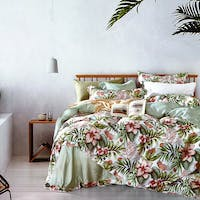 Sleep Buddy Set Sprei dan Bed Cover Flower Garden Tencel 120x200x30