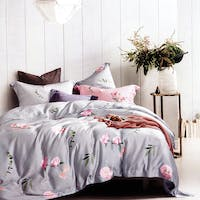 Sleep Buddy Set Sprei dan Bed Cover Rose Tencel 120x200x30