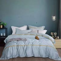 Sleep Buddy Set Sprei dan Bed Cover Blue Pattern Tencel 160x200x30