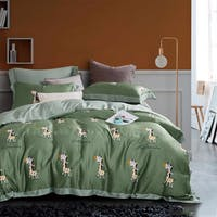 Sleep Buddy Set Sprei Giraffe of Green Tencel 160x200x30