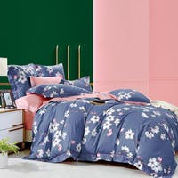 Sleep Buddy Set Sprei Blue Sakura Cotton Sateen 160x200x30