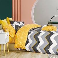 Sleep Buddy Set Sprei Chevron Boys Cotton Sateen 160x200x30