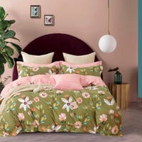 Sleep Buddy Set Sprei Green Rose Cotton Sateen 160x200x30