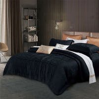 Sleep Buddy Set Sprei dan Bed Cover Rhods Black Jacquard Tencel 160x200x40