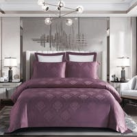 Sleep Buddy Set Sprei dan Bed Cover Feree Grape Jacquard Tencel 160x200x40