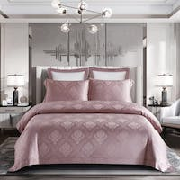 Sleep Buddy Set Sprei dan Bed Cover Feree Rosybrown Jacquard Tencel 160x200x40