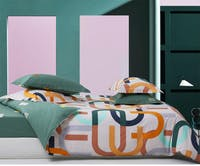 Sleep Buddy Set Sprei Scandi Line Cotton Sateen 160x200x30