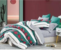 Sleep Buddy Set Sprei Forest Berry Cotton Sateen 160x200x30