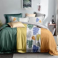 Sleep Buddy Set Sprei Monstera Variegata Cotton Sateen 160x200x30
