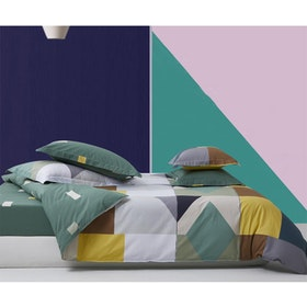 Sleep Buddy Set Sprei Scandi Shape Cotton Sateen 160x200x30