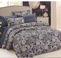 Sleep Buddy Set Sprei Navy Abstrac Cotton Sateen 160x200x30