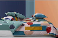Sleep Buddy Set Sprei dan Bed Cover Scandyanest Cotton Sateen 160x200x30