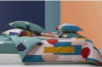 Sleep Buddy Set Sprei dan Bed Cover Scandyanest Cotton Sateen 180x200x30