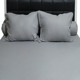 Sleep Buddy Set Sprei Plain Grey CVC 160x200x30