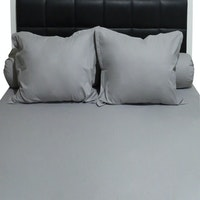 Sleep Buddy Set Sprei Plain Grey CVC 180x200x30