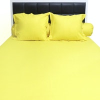 Sleep Buddy Set Sprei Plain Yellow CVC 160x200x30