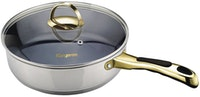 Kangaroo Inox Frypan-Teflon Stainless KG585S 26cm with Glass Lid Food Grade