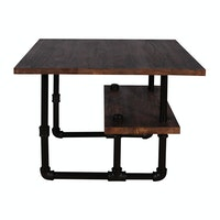 Cass Living Coffee Table Industria Kayu Mahoni
