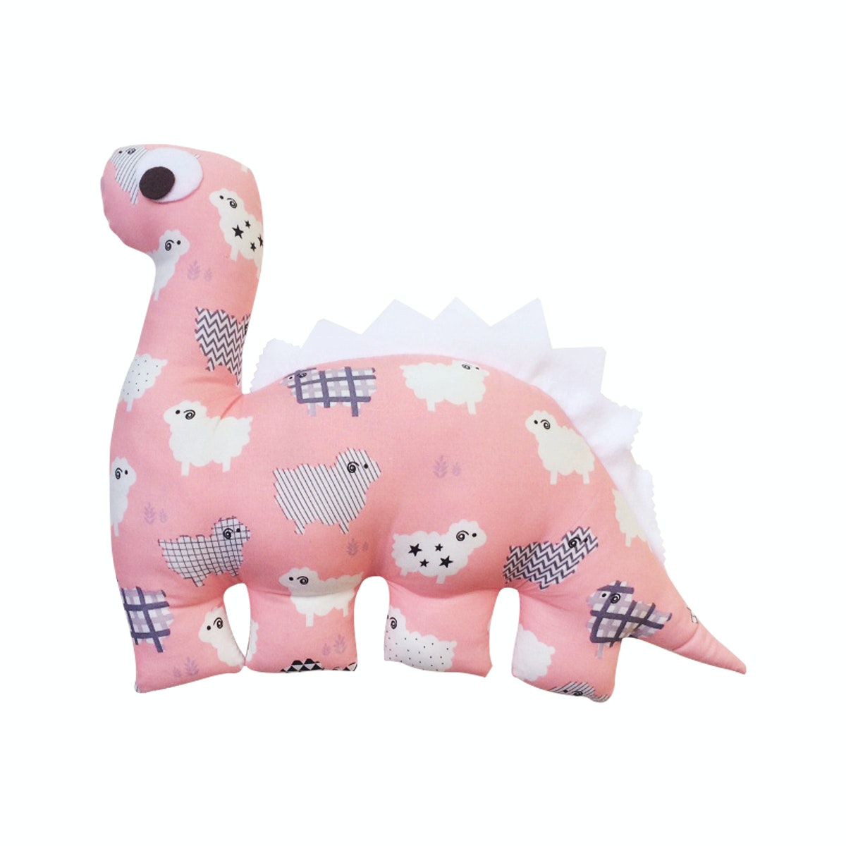 Strawberry Patch Dino Cushion Pink Sheep DC-D012