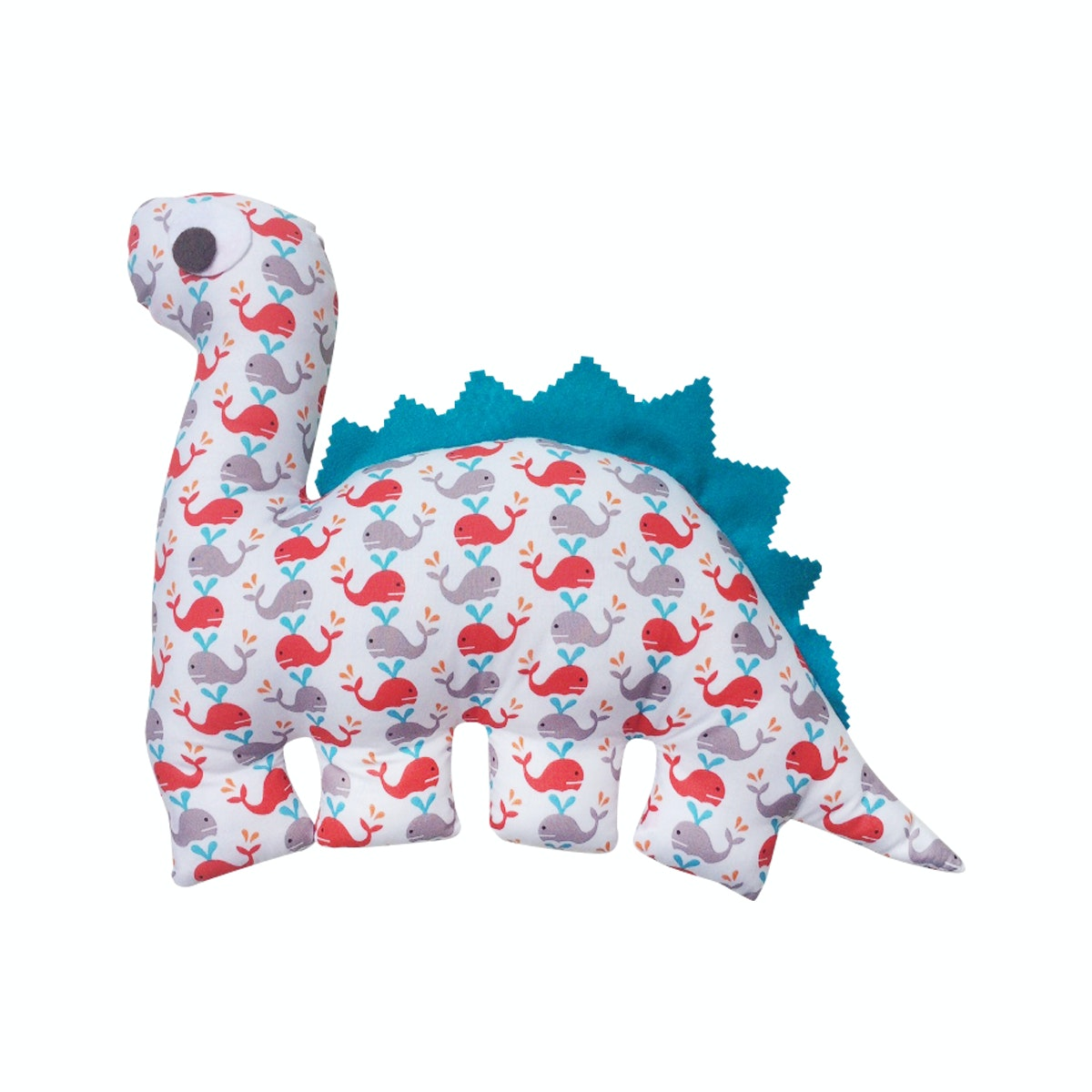 Strawberry Patch Dino Cushion White Whale DC-D014