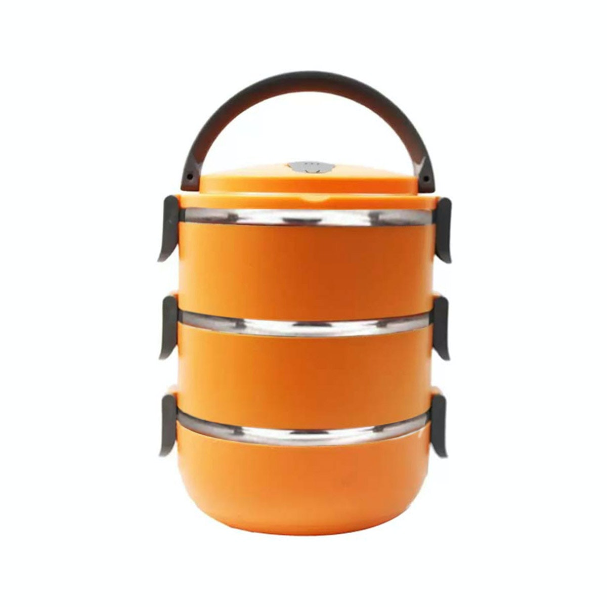 StarHome Rantang 3 Susun - Kotak Makan Stainless Steel - Lunch Box 2100 ml - Orange
