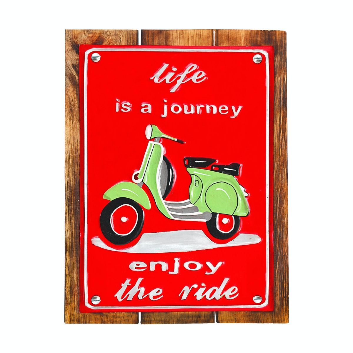 TAN LIVING Painting Panel Plat Life Is a Journey