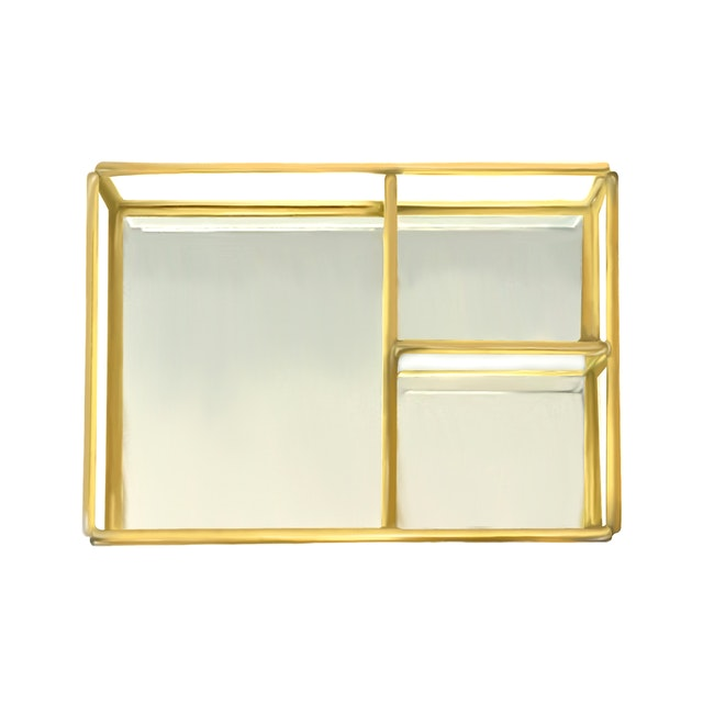 TAN LIVING Open Jewelry Box