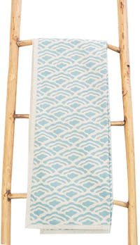 Tan Living Table Runner Ombak Biru